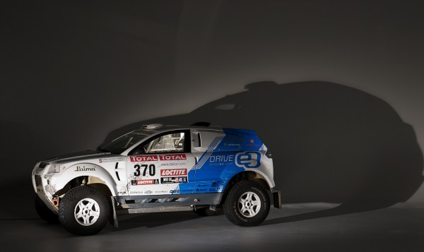 Electric OSCar eO rally car, studio shot